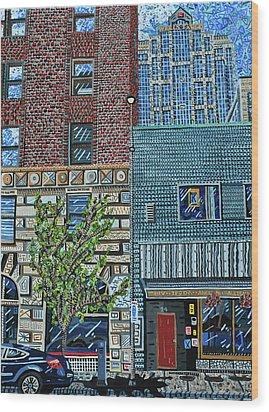 Downtown Raleigh - West Martin Street Wood Print by Micah Mullen