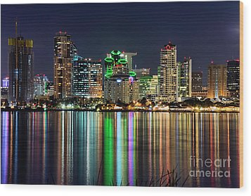 Wood Print featuring the photograph Downtown San Diego by Eddie Yerkish