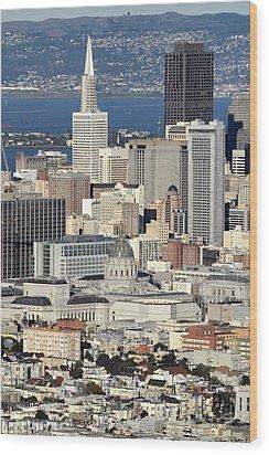 Downtown San Francisco Wood Print by Pierre Leclerc Photography