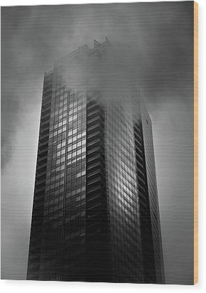 Downtown Toronto Fogfest No 24 Wood Print by Brian Carson