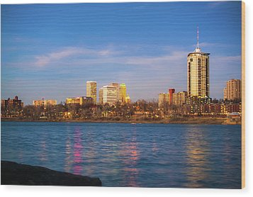 Wood Print featuring the photograph Downtown Tulsa From A Distance - Oklahoma Skyline  by Gregory Ballos
