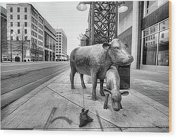 Wood Print featuring the photograph Downtown Wichita by JC Findley