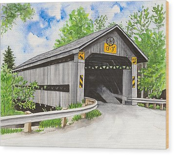 Doyle Road Bridge Wood Print