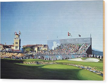 Dp World Tour Championship 2015 - Open Edition Wood Print by Mark Robinson