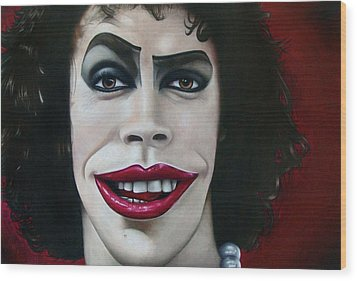 Dr. Frank-n-furter Wood Print by Kalie Hoodhood