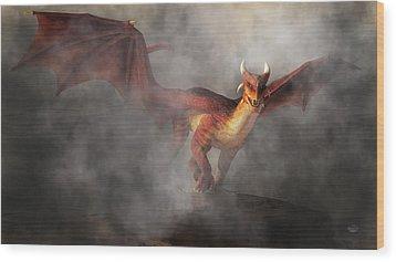 Wood Print featuring the digital art Draco by Daniel Eskridge