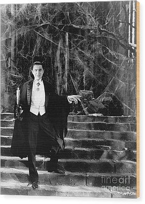 Dracula Wood Print by R Muirhead Art