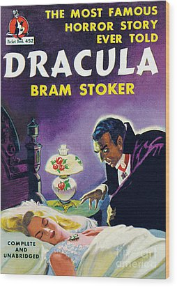 Wood Print featuring the painting Dracula by Unknown Artist