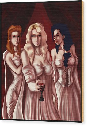 Dracula's Brides Wood Print by Jessica Gaude