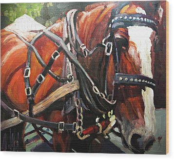 Draft Horse Wood Print by Brian Simons