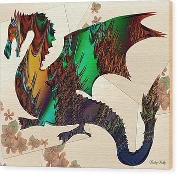 Drago Wood Print by Kathy Kelly
