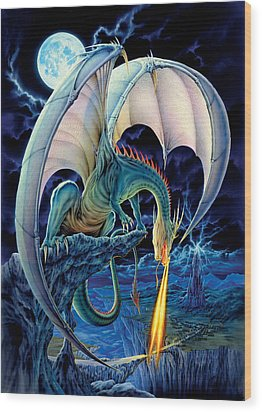Dragon Causeway Wood Print by The Dragon Chronicles - Robin Ko