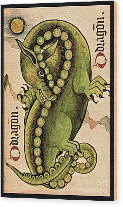 Wood Print featuring the painting Dragon Dragon by Lora Serra