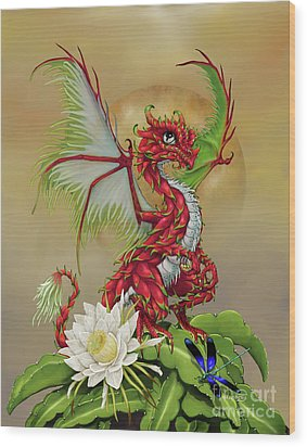 Wood Print featuring the digital art Dragon Fruit Dragon by Stanley Morrison