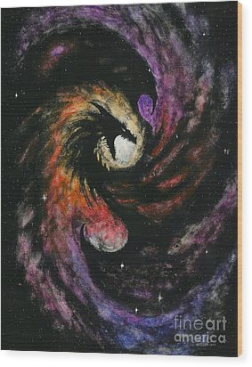 Dragon Galaxy Wood Print by Stanley Morrison