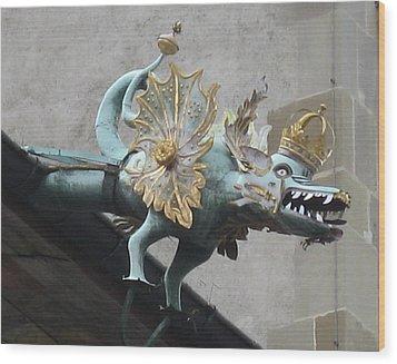 Dragon Wood Print by James Lukashenko