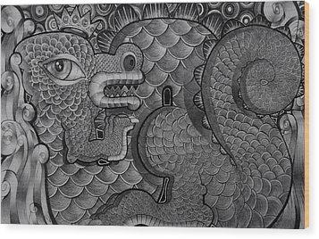 Dragon King Wood Print