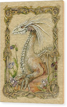 Dragon Wood Print by Morgan Fitzsimons