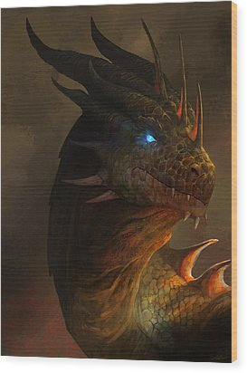 Dragon Portrait Wood Print