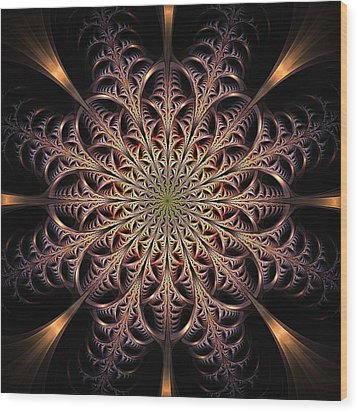 Dragon Seal Wood Print by Anastasiya Malakhova