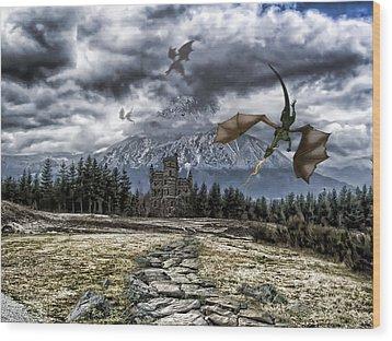 Dragon Trail. Wood Print by Anastasia Michaels