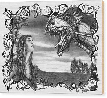 Dragon Whisperer  Wood Print by Peter Piatt
