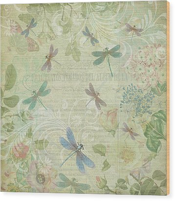 Dragonfly Dream Wood Print by Peggy Collins