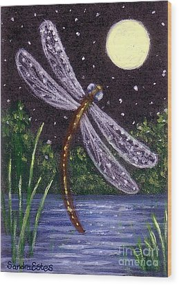 Dragonfly Dreaming Wood Print by Sandra Estes