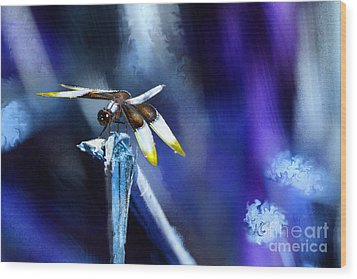 Dragonfly In The Blue Wood Print