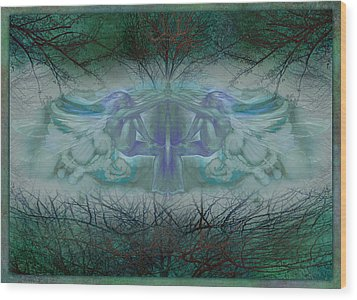 Dragonfly Wood Print by Ragen Mendenhall