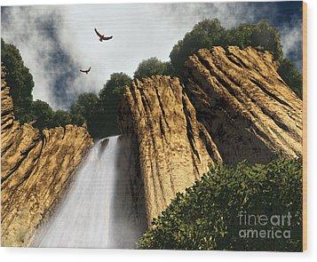 Dragons Den Canyon Wood Print by Richard Rizzo