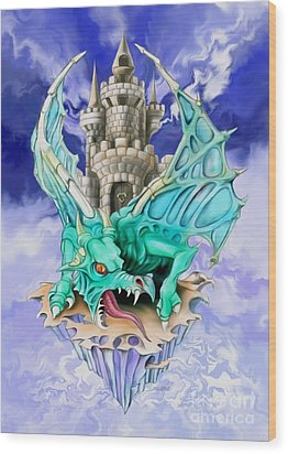 Dragons Keep By Spano Wood Print by Michael Spano