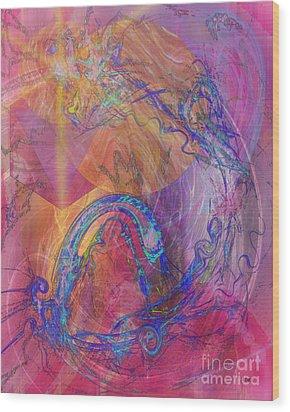 Dragon's Tale Wood Print by John Beck