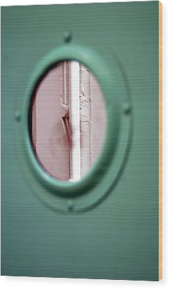 Wood Print featuring the photograph Drained Door by Jez C Self
