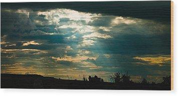 Drakensberg Evening Wood Print by Joe Houghton