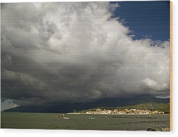 Wood Print featuring the photograph Dramatic Clouds by Rod Jones