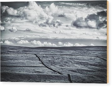 Dramatic Landscape  Wood Print by RKAB Works