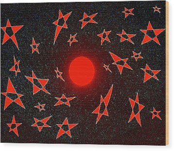 Wood Print featuring the mixed media Dramatic Radiation  by Will Borden