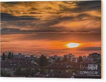 Dramatic Sunset Over Sofia Wood Print