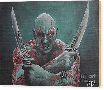 Drax The Destroyer Wood Print by Tom Carlton
