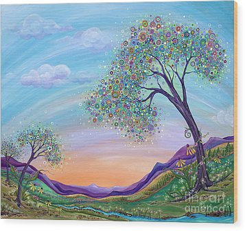 Dream Big Wood Print by Tanielle Childers