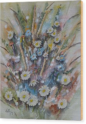 Dream Bouquet Wood Print by Kelly Mills