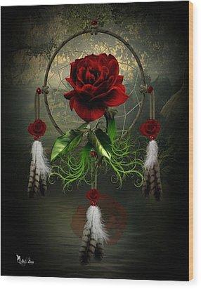 Dream Catcher Rose Wood Print