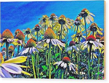 Dream Field Wood Print by Gwyn Newcombe