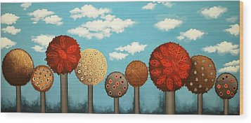 Dream Grove Wood Print by Graciela Bello