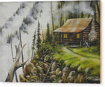 Dream Home Wood Print by David Paul