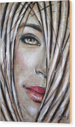 Dream In Amber 120809 Wood Print by Selena Boron
