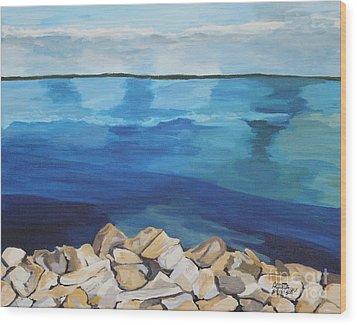 Dream Lake Wood Print by Annette M Stevenson