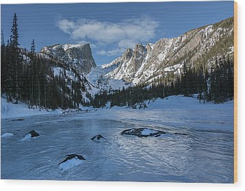 Dream Lake Morning Wood Print by Aaron Spong