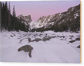 Dream Lake - Pre Dawn Wood Print by Aaron Spong